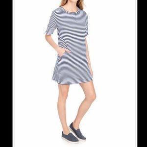 Dresses & Skirts - HALCYON Striped Knit Tee Shirt Dress blue